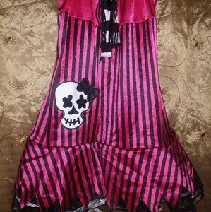 Other - Pink striped skull dress